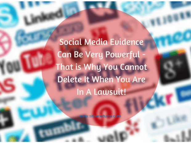 Social Media Evidence is Powerful - You Cannot Delete It!