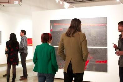 modern art gallery opening