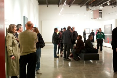people large art gallery show gathering