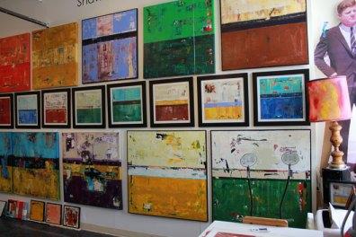 art studio wall salon style