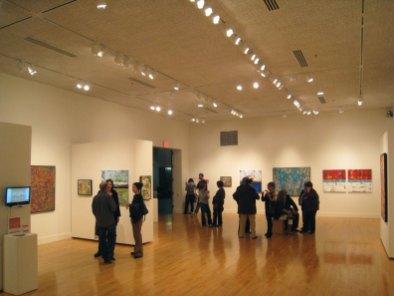 people patrons visitors art gallery exhibit