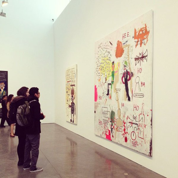 kids art students basquiat show gagosian