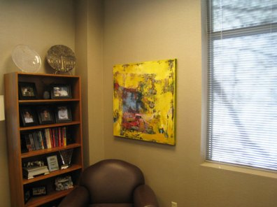 Office Artwork Yellow Abstract McNulty