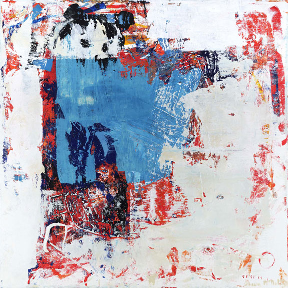 abstract painting bear animal art white peek