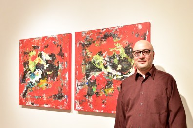 Artist Shawn McNulty Bison Red Painting