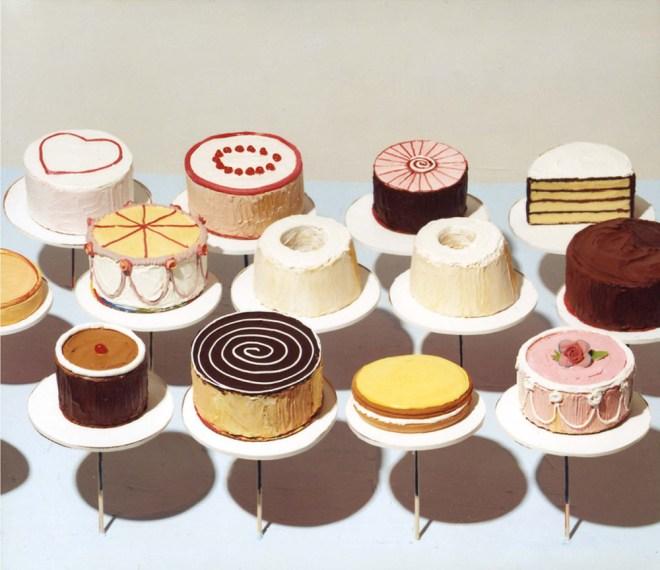 Wayne Thiebaud Cakes 1963 Paintings