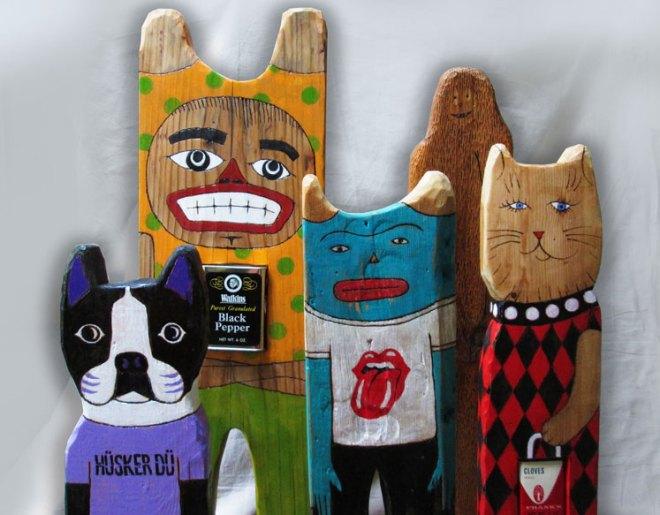 Animal Woodcarvings Folk Art Michael Sweere