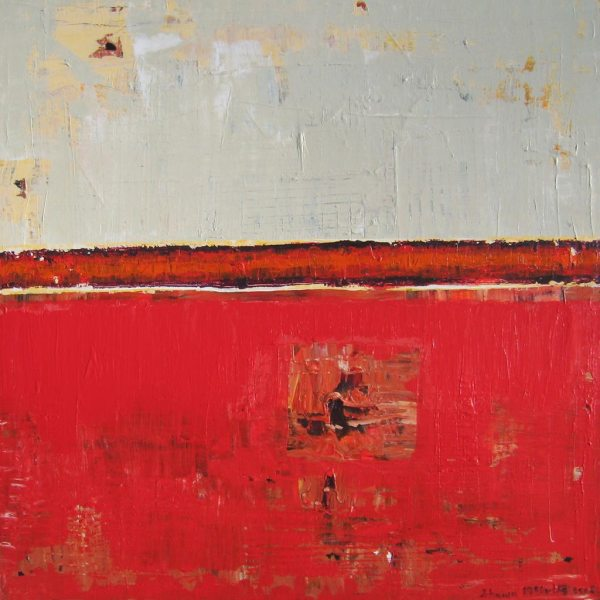 Amplitude Red Contemporary Painting