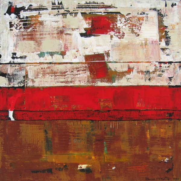 Cranberry Brown Red Abstract