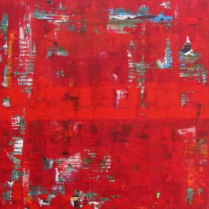 Epic Red Abstract Expressionism Famous Painting