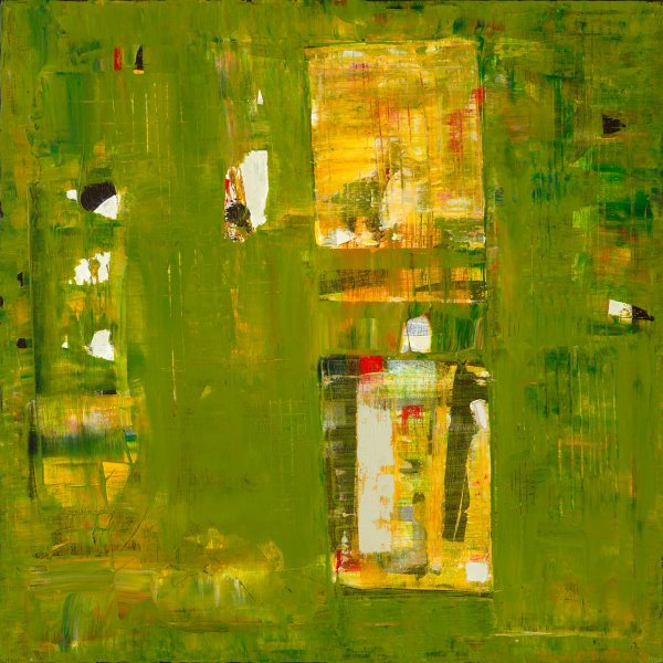 Iodine Olive Green Abstract