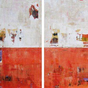 Larkin Orange Large Abstract Commission Painting