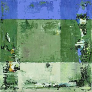 Mesmerize Contemporary Abstract Blocks Green