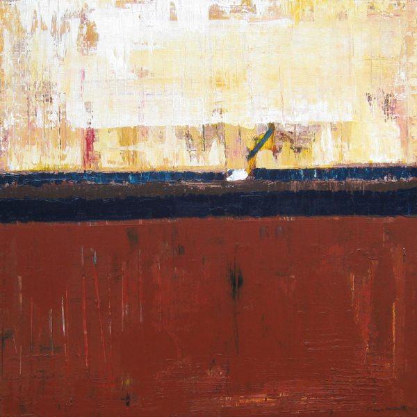 Ozark Brown Abstract Landscape Art