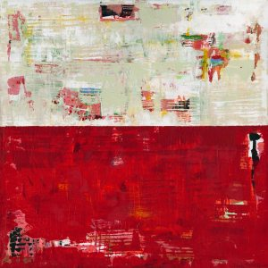 Shimmer Flame Scarlet 18 1662 Painting Abstract