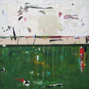 Tavern Green White Contemporary Canvas