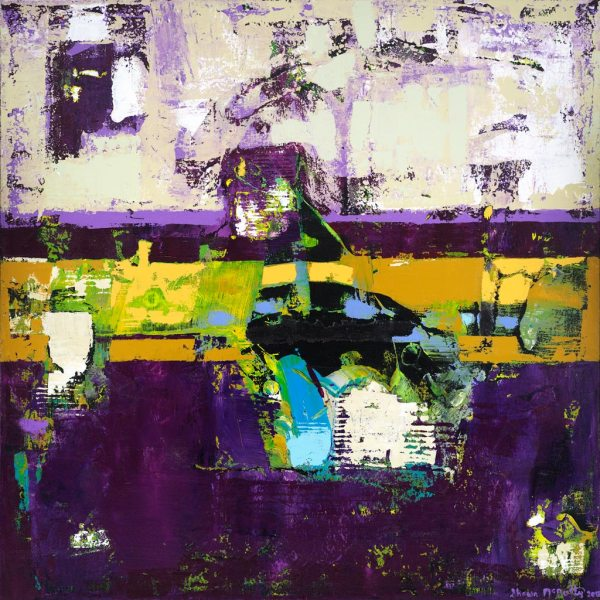 Controversy Prince Purple Yoda Abstract Art