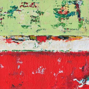 Dixon Girl Dessa Abstract Red Green Art