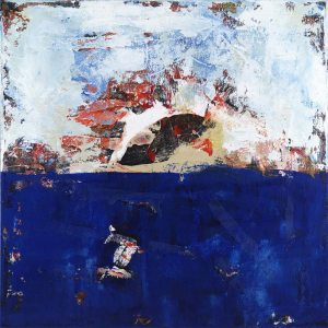 Stringer Fish Abstract Painting Blue