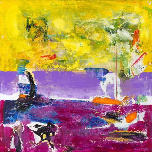 Canos Cristales Colombia River Purple Painting