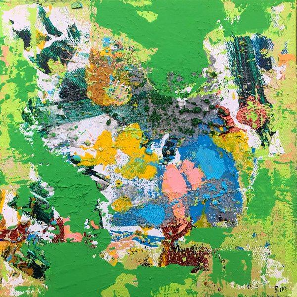 Mallard Drake Duck Abstract Modern Art Painting