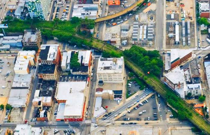 Rail Park Philadelphia Aerial View