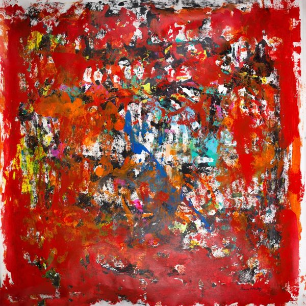 Supersonic Speed Song Huge Abstract Painting
