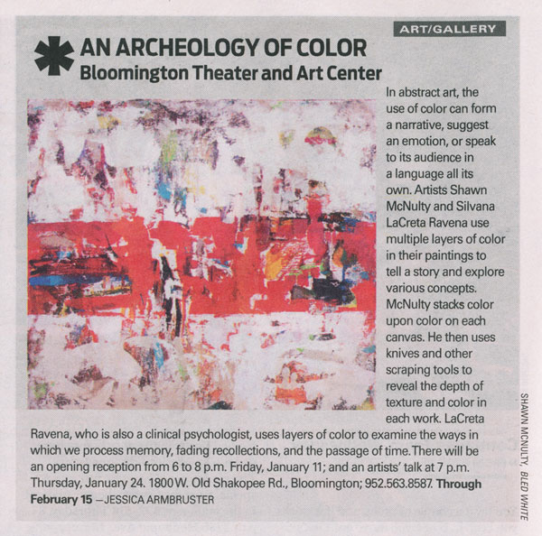Archeology Color Shawn Mcnulty Modern Art Review Citypages Minneapolis