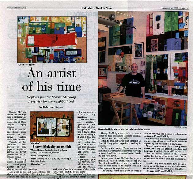 Lakeshore Weekly News Artic