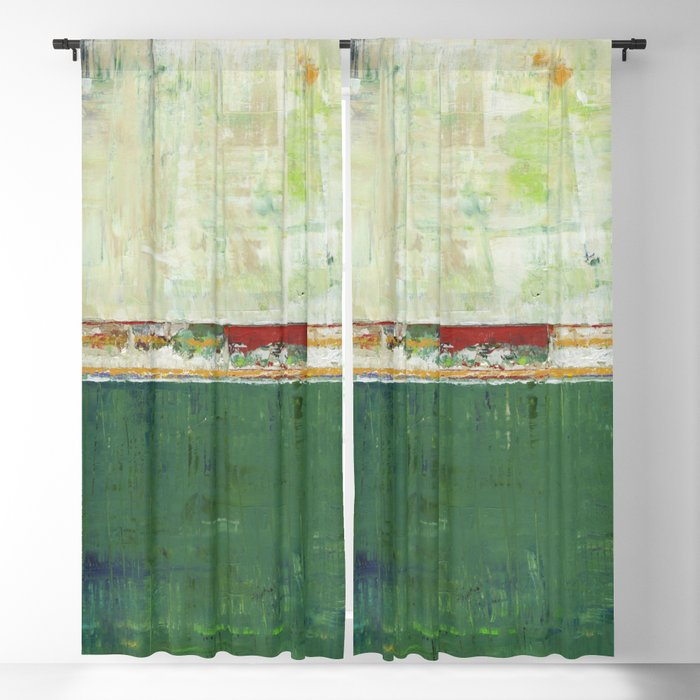 Limerick Irish Ireland Abstract Green Modern Art Landscape Blackout Curtains