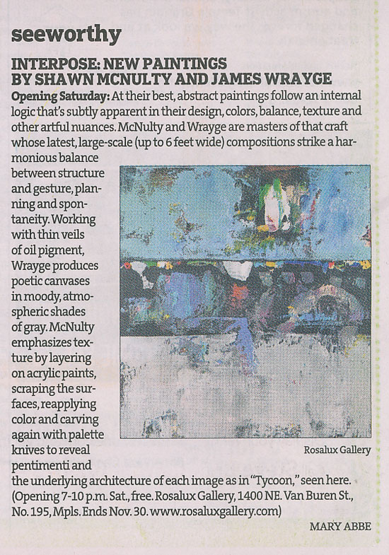 Minneapolis Startribune Interpose Abstract Art Review Mary Abbe