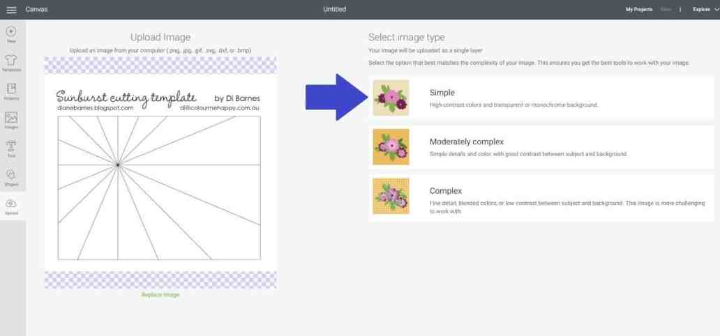 Upload an image to Cricut Design Space