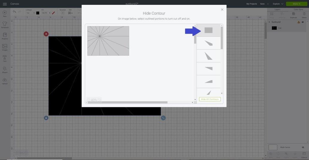 Using Contour in Cricut Design Space
