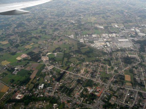 Landing in Brussels Belgium from New York