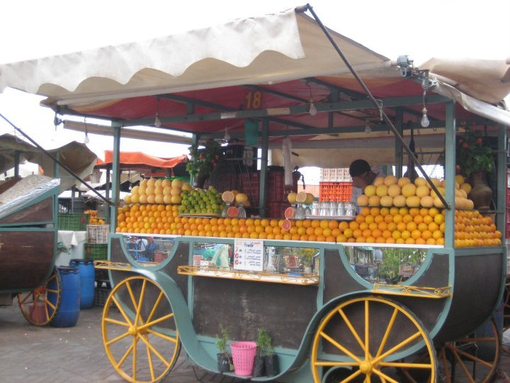 Oranges being Sold in the day in Djemaa El-Fna
