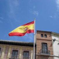 Spanish Flag in Malaga