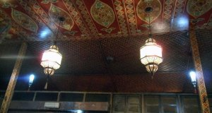 Moroccan Decoration while eating Moroccan Food
