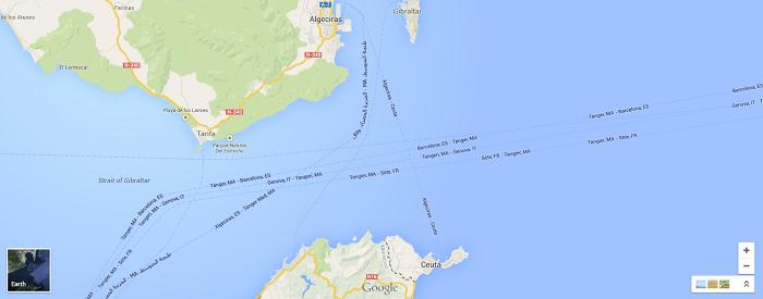 Location of Ceuta, Spain