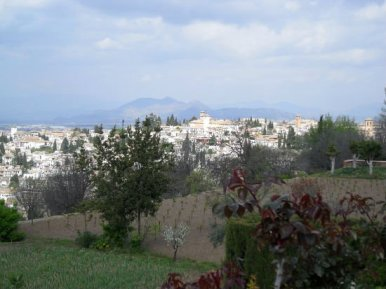 View of Granada from Alhambra
