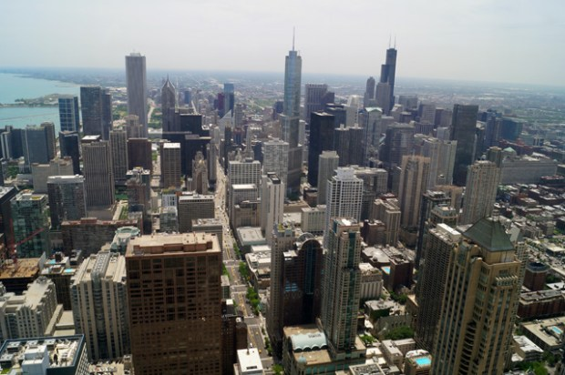 Chicago-Skyline from Signature Lounge