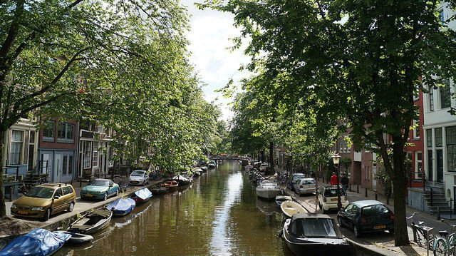 Amsterdam Netherlands - One of the many canals