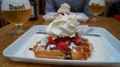 Bruges Belgium - Beer and Waffles