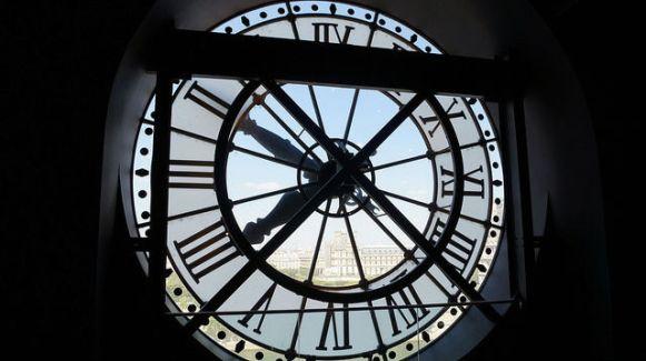 Paris France - Clock at Musee d'Orsay