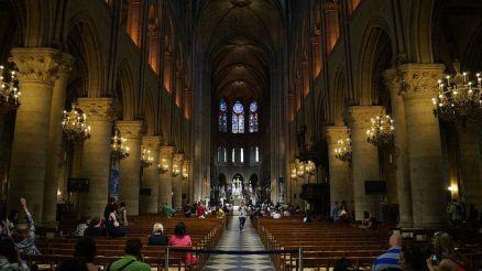 Paris France - Inside Notre Dame