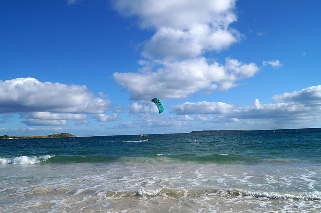 Airplanes and Beaches in St. Maarten - Windsurfing in Orient Beach
