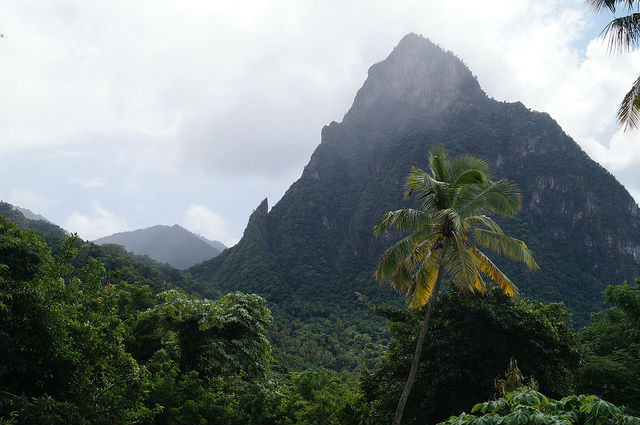 Exploring the Island of St. Lucia - A view of the Pitons