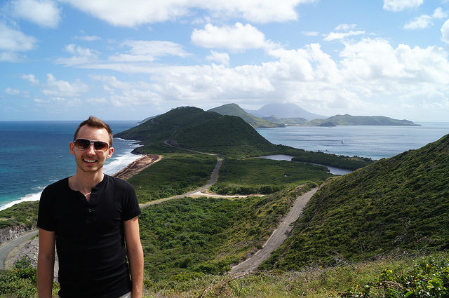 The Island Tour of St. Kitts - Shawn with St Kitts and Nevis