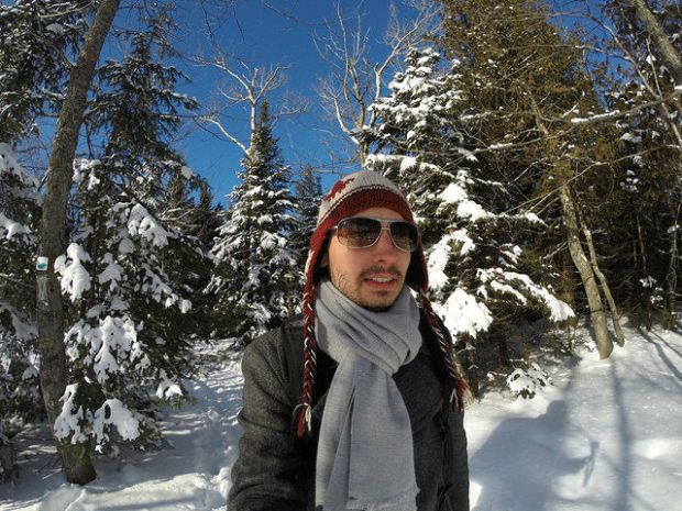 My Mini Minnesota Trip - Walking in the snow covered forest