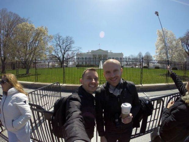 Highlights of Washington DC - Selfie at White House