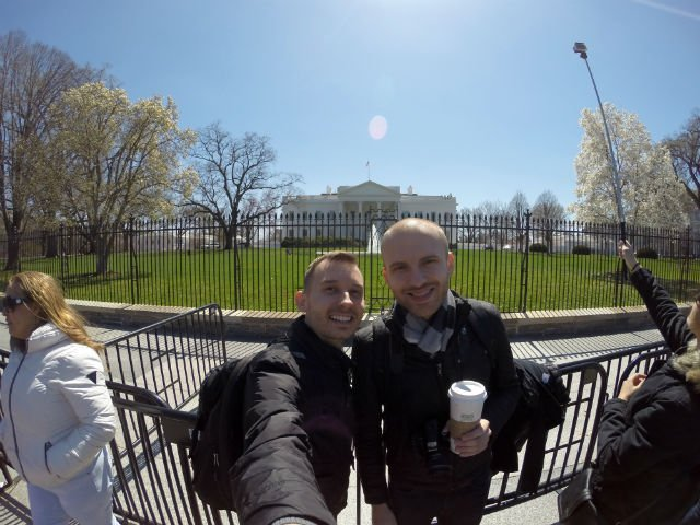 Highlights of Washington DC - Selfie at White House